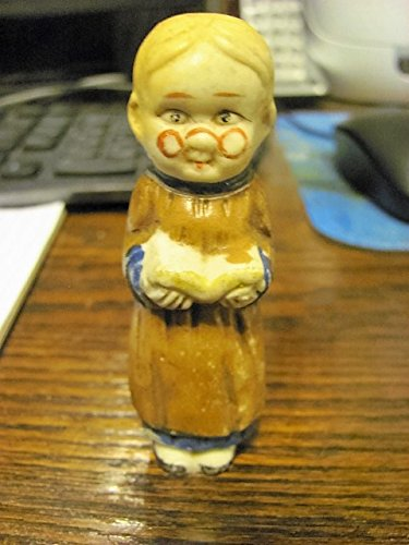 vintage bisque grannie figurine, circa 1930s, marked JAPAN