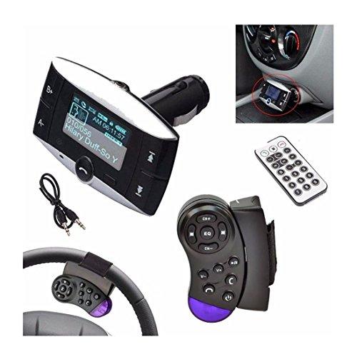 Iuhan Fashion 1.5''LCD Car Kit MP3 Player Bluetooth FM Transmitter Modulator SD MMC USB Remote