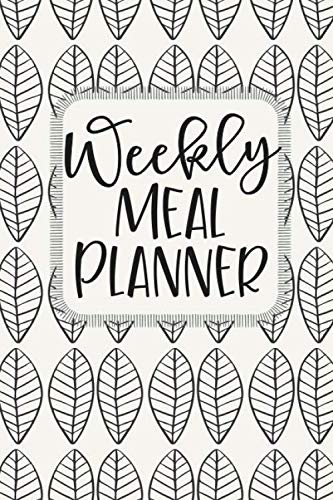 Weekly Meal Planner: 52 Weeks of Menu Planning Pages with Weekly Grocery Shopping List - Modern Leaf by Cardien Design Co.