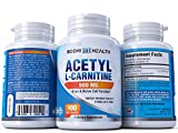 Bodhi Health Acetyl L-Carnitine 500mg Dietary Supplement: Advanced Formula Energy & Focus Booster | Mood Enhancing Health Supplement To Boost Strength Performance & Overall Wellness | 100 Veg Capsules