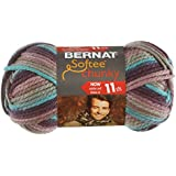 Bernat Softee Chunky Ombre Yarn - (5) Bulky Chunky Gauge 100% Acrylic - 2.8 oz -   Shadow  -  Machine Wash & Dry
