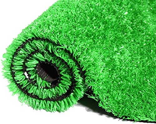 YNGJUEN 合成人工芝、15ミリメートルパイルハイペットパッドガーデン芝生カーペットドアマットゴム排水穴、屋外の装飾 (Size : 2x5m)