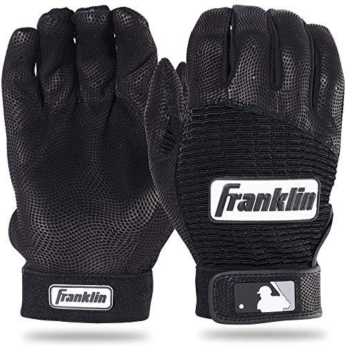 Athletic Classic Gloves - Franklin Sports Adult MLB Pro Classic Batting Gloves, Adult Medium, Pair, Black/Black