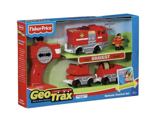Fisher-Price GeoTrax Rail and Road System RC Set with Figure Assortment Fisher Price Geotrax Rail