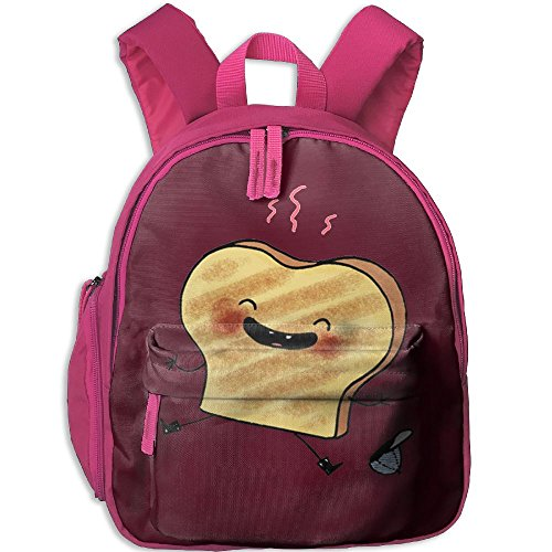 Toddler Pre School Backpack Boy&girl's Baked Toast Cartoon Book ()