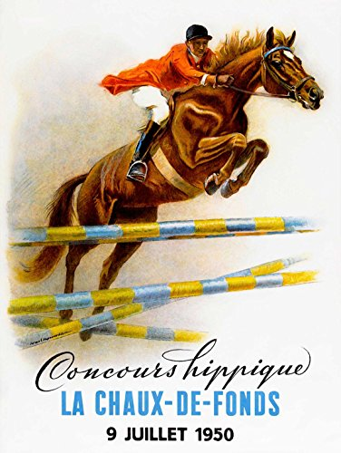 SPORT ADVERT EQUESTRIAN HORSE JUMPING EVENT FRANCE FENCE PRINT POSTER - Mail France To First Class