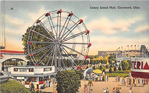 Coney Island Mall Cincinnati, Ohio, OH, USA Postcard Post - Malls Cincinnati
