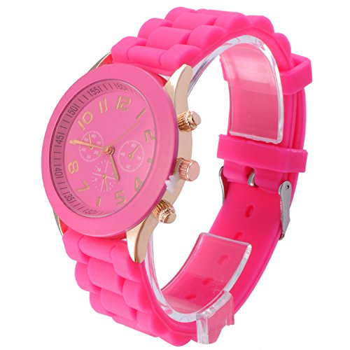 OFTEN Popular Silicone Rubber Jelly Gel Quartz Analog Watch for Men Women Girl Boy Kids Students Nurse Unisex Sports Leisure Wrist Watch