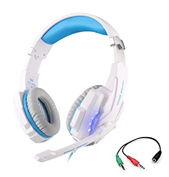 Juego de auriculares, KOTION EACH G9000 3.5 mm luz LED Gaming Headset para PlayStation 4