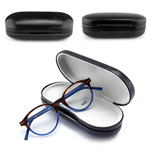 Yorki Glasses and Contacts Case Double glasses case 2 in 1 Clamshell Hard Case for Eyeglasses and Contact Lenses use Travel (#5) by Yorki (Image #4)