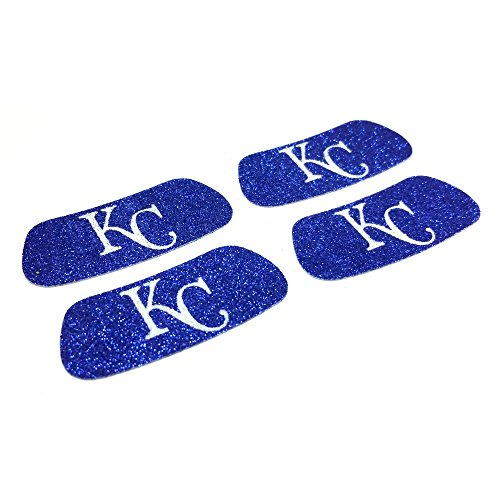 EyeBlack Kansas City Royals MLB Glitter Strips, Perfect for Game Day and Tailgate (4 Pairs/8 Strips) -