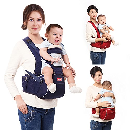 sunveno-2-in-1-baby-carrier-hip-seat-with-shoulder-straps-comfort-ergonomic-waist-stool-navy-blue