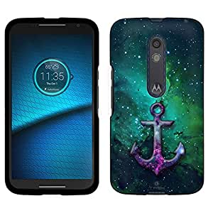 Motorola Droid Maxx 2 Case, Snap On Cover by Trek Anchor on Nebula Green Case