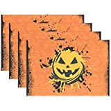 FENNEN Dining Placemats Halloween Sugar Pumpkin Table mats Non-Slip Doily Washable TableMats (Set of 6)