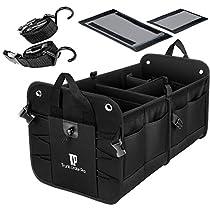 TrunkCratePro Premium Multi Compartments Collapsible Portable Trunk Organizer for auto, SUV, Truck, Miniva