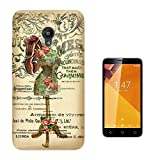 000535 - Vintage Shabby Chic Victorian Floral Roses Mannequin Design Vodafone Smart Turbo 7 Fashion Trend CASE Gel Rubber Silicone All Edges Protection Case Cover