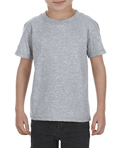 Juvy Heather T-shirt - Alstyle Apparel AAA Little Boys' Juvy Ultimate Ringspun T-Shirt, Athletic Heather Gray, 7
