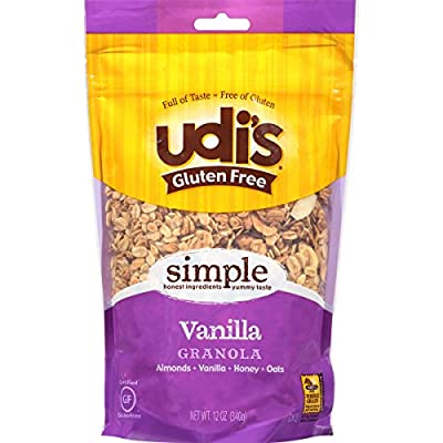 Udi's Gluten Free Simple Vanilla Granola, Dairy Free and Egg Free, 12 Ounce