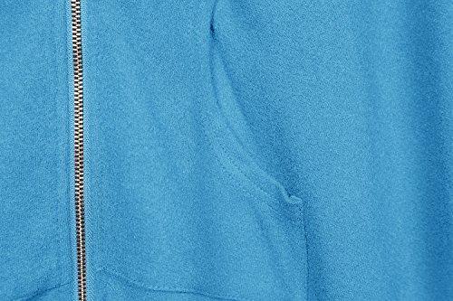 Urban GoCo Pluse Tamaño Sudadera con Capucha Chaqueta Capa Estilo para Mujeres Azul