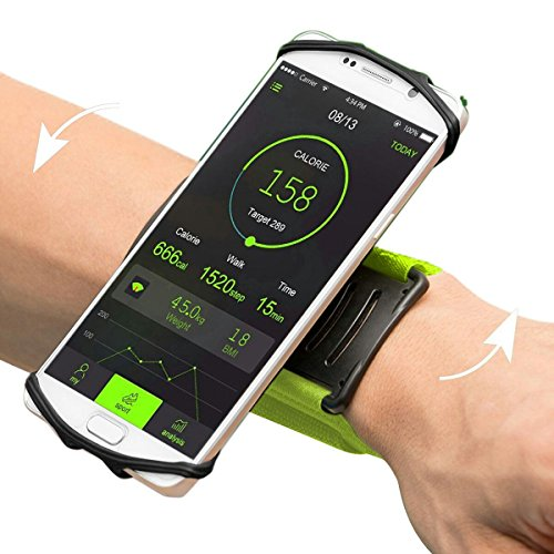 - Sports Armband Universal for iPhone 8 / 8Plus / 7Plus / 7, VUP 180¡ã Rotating Sweatproof Wristband Fits up 4¡¯¡¯to 5.5¡¯¡¯ Phones for Running, Cycling, Workouts or any Fitness Activity Secure