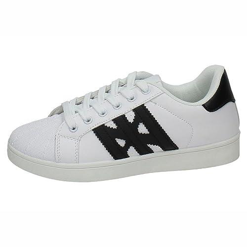 e2b9a039 DEMAX 7-K2822B-12 Sneakers REFORZADAS Mujer Deportivos Blanco-Negro 41:  Amazon.es: Zapatos y complementos