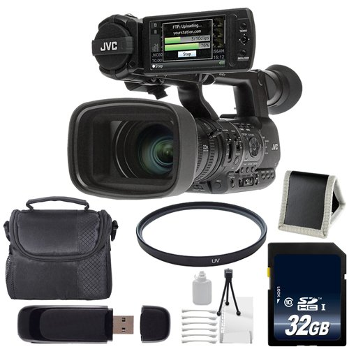 JVC GY-HM650 GYHM650 ProHD Mobile News Camera (International Model) + 32GB SDHC Class 10 Memory Card + Carrying Case + 72mm UV Filter + SD Card USB Reader + Deluxe Starter Kit 6AVE Bundle