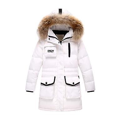 b5ab54a64a5cc LPATTERN Unisex Manteau d'hiver Doudoune Mi-Longue Enfant Fille Garçon  Veste Epaisse Chaude