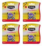 Schick Silk Effects Plus Razor Refill, 5-Count (Pack of 2)