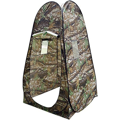 Privacy Shower Toilet Tent - Portable Pop Up Shelter Dressing Fishing Bathing Toilet Changing Room Outdoor Camping Beach Toilet Tent Cabana With Carry Bag - Camouflage by Unknown