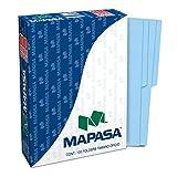 Mapasa PA0002 Paquete con 100 Folders, Tamaño Oficio, color Azul