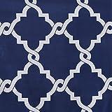Blue and White Shower Curtain Madison Park MPE70-144 Essentials Merritt Shower Curtain 72x72 Navy