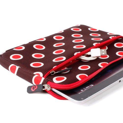 Kroo 10-Inch Red Polka dots Sleeve with Zipper Pocket for Motorola Xoom 2, Malata Z Pad Tablet PC (10 Inch Motorola Xoom Tablet Case)