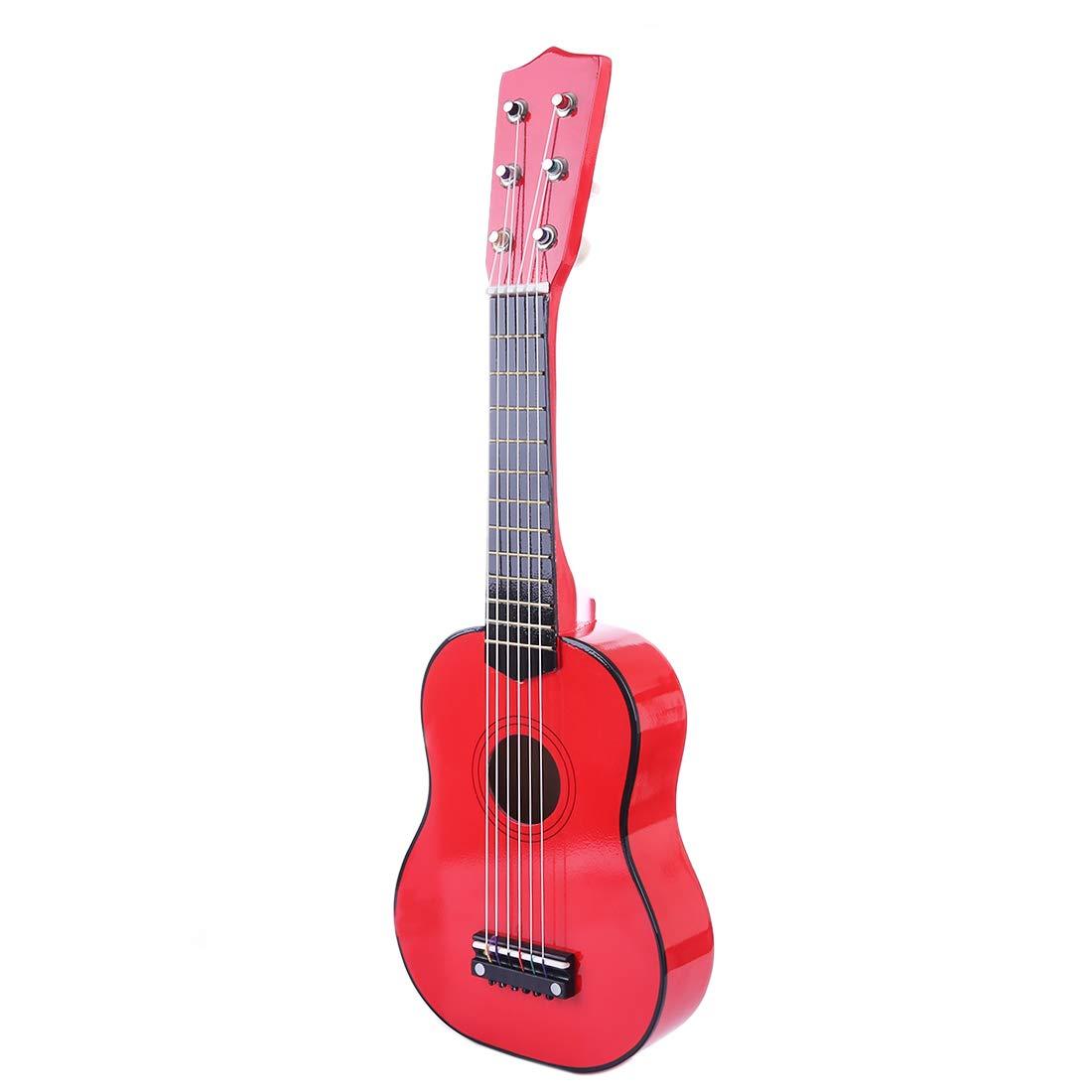 Foxom Kindergitarre, 21 Zoll 6 Saiten Holz Kinder Gitarre mit Plektrum Spielzeug Musikinstrument Pä dagogisches Spielzeug fü r Kinder Junge Mä dchen ab 3 Jahre
