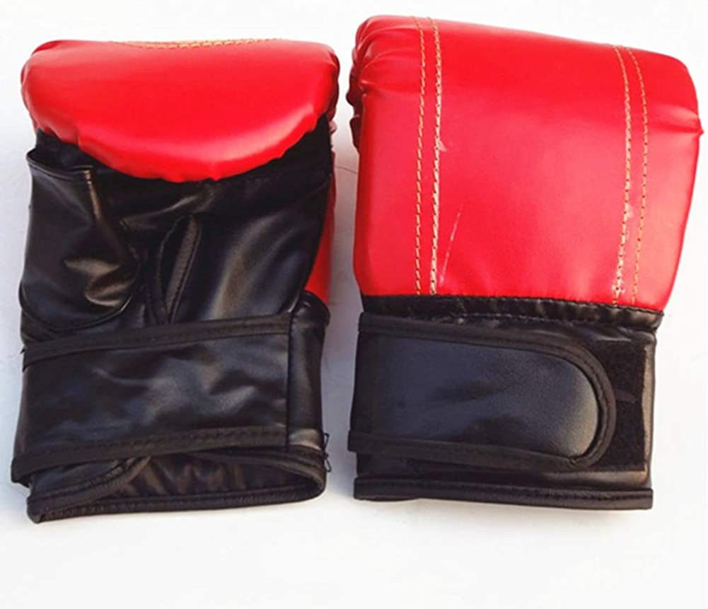 Faux Leather MMA Boxing Muay Thai Sandbag Fight Combat Training Fist Gloves USA