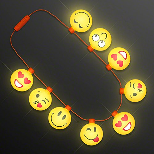 Jumbo Emojis String Lights Necklace (Set of 12)