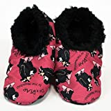 Womens Plush Lined Slippers by LazyOne Comfy Animal Fuzzy Feet Bear in the Morning Large/X-Large