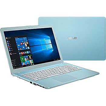 "2018 ASUS 15.6"" HD LED Backlit Laptop Computer, Intel Celeron N3050 up to 2.16GHz, 4GB RAM, 128GB SSD, WIFI, Bluetooth, DL DVD, HDMI, Aqua Blue, Windows 10"