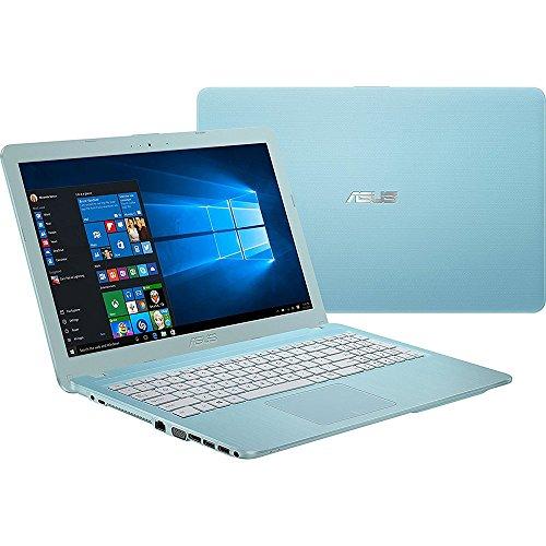"2018 ASUS 15.6"" HD LED Backlit Laptop Computer, Intel Celeron N3050 up to 2.16GHz, 4GB RAM, 256GB SSD, WIFI, Bluetooth, DL DVD, HDMI, Aqua Blue, Windows 10"