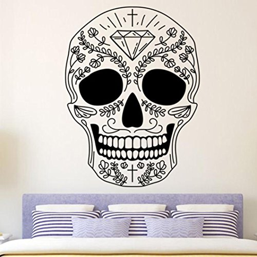 Molyveva Halloween Skeleton Background Decorated House Wall Stickers Cool Halloween Gift for Kids