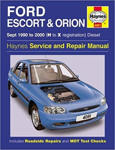 Ford Escort & Orion Diesel Sept 90 - 00 Haynes Repair Manual: 1990 to 2000 H to X Reg Service & repair manuals: Amazon.es: Haynes Publishing: Libros en ...