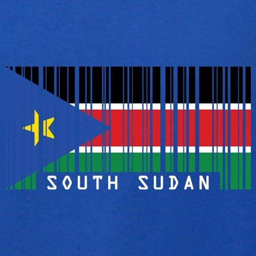 South Sudan / Südsudan Barcode Flagge - Herren T-Shirt - Royalblau - XXL