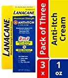 Product review for Lanacane Maximum Strength Anti-Itch Cream, 1 oz, 2in1 Fast Acting Itch Relief and Kills Germs (Pack of 3)