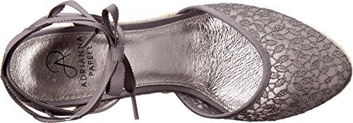 (Adrianna Papell Women's Pamela Pewter Valencia Lace 8.5 M US M)