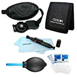 Special Essential Wrist Grip Strap Kit for SLR Cameras - Includes ZE-WGS Professional Wrist Grip Strap, ZE-MC3A 3 Card Tri-fold Memory Card Wallet, Screen Protectors, Dust Removal Blower System, LCD/Lens Cleaning Pen And MicroFiber Cloth