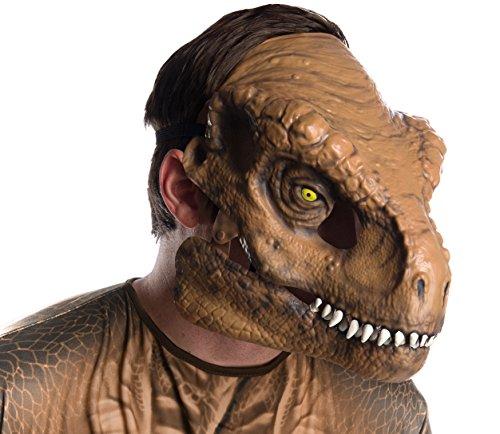 Moving Jaw Mask - Rubie's Men's Tyrannosaurus Rex Movable Jaw Adult Mask, Multi, Standard