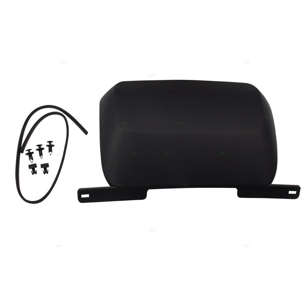 Black Rear Bumper Trailer Hitch Tow Cover w/Hardware Replacement for 07-14 Chevrolet Suburban Tahoe GMC Yukon 19172860 19172862 22832538 by Brock
