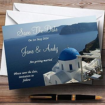 Amazon Com Greece Santorini Personalized Wedding Save The