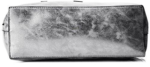 MTNG Carabe Cabas Negro Multicolore Plata Scarab wRvdwrxq