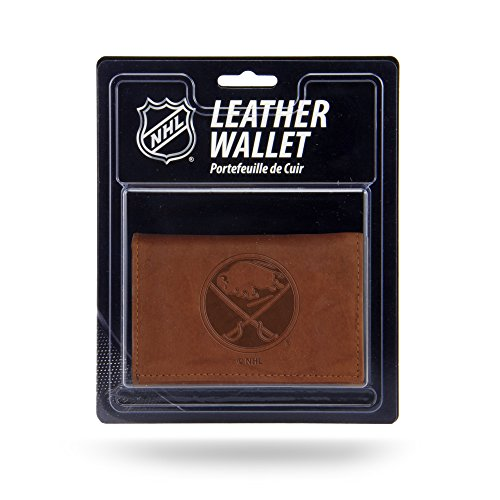 Buffalo Sabres Leather - Rico Industries NHL Buffalo Sabres Leather Trifold Wallet with Man Made Interior
