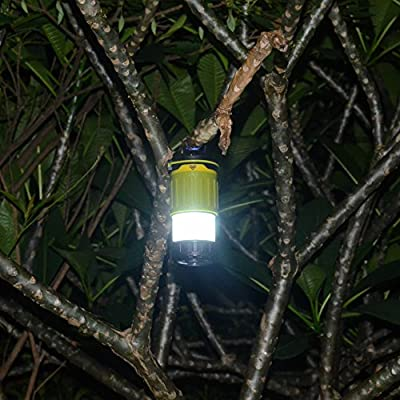 *New Release* Ultra Bright Rechargeable Camping Hanging Led Lantern Flashlight Combo for Campers Tents Outdoor - Portable & Collapsible Emergency Blackout Lights Hurricane Lamp w/ 3600 mAh Power Bank